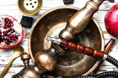 Hookah with pomegranate flavor royalty free stock images
