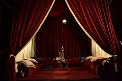 Hookah room in red Royalty Free Stock Photo