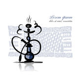 Hookah sketch for your design Royalty Free Stock Image