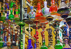Hookah in souvenir shop Stock Photos