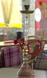 Hookah on a table. At  cafe for guests Stock Photos