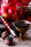 Hookah and tea Royalty Free Stock Image