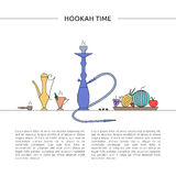 Hookah time concept. Stock Images