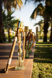 Hookah, traditional arabic waterpipe, in the arabic restaurant Stock Images