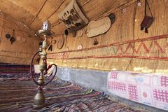 Hookah Water Pipe in Farafra Village Guest Room in Egypt Stock Images