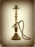Hookah ( Water pipe ). Old and worn photo paper effect. Hookah ( Water pipe ). Old and worn photo paper effect, close up image stock photography