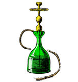 Hookah on white background Royalty Free Stock Photography