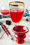 Hookah and wine Royalty Free Stock Photography