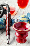 Hookah and wine Royalty Free Stock Image