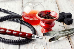 Hookah and wine Stock Photos