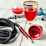 Hookah and wine Stock Image