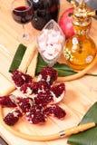Hookah, wine, garnet  and sweets Royalty Free Stock Image