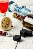 Hookah and wine Stock Photos