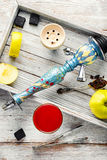 Hookah and wine Royalty Free Stock Photos