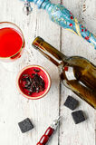 Hookah and wine Royalty Free Stock Images