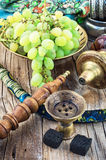 Hookah on  wooden table Stock Images