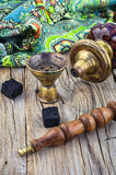 Hookah on  wooden table Stock Image