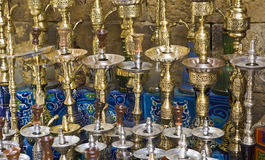 Hookahs in Cairo Bazaar Royalty Free Stock Photos