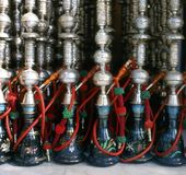 Hookahs In Front Of Restaurant Stock Photography
