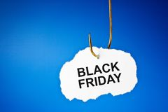 Hooked On Black Friday Sale Concept royalty free stock image