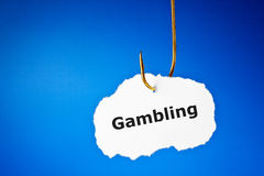 Hooked On Gambling Concept Royalty Free Stock Photos