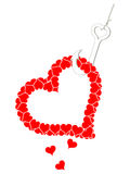 Hooked Heart Stock Images
