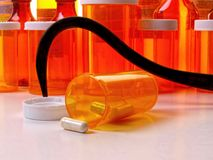 Hooked on Medication Royalty Free Stock Photo