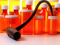 Hooked on Medication Royalty Free Stock Photography