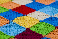 Hooked rug. Royalty Free Stock Image