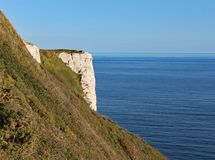 Hooken undercliff between Branscombe and Beer in Devon, England. This is accessible by walking the coastal path stock image