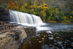 Hooker Falls Autumn Waterfalls DuPont State Park Stock Image