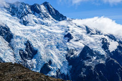 Hooker glacier on a clear day Stock Photo