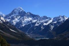 Hooker-Gletscher und Montierungs-Koch Lizenzfreies Stockbild