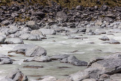 Hooker River in Aoraki national park New Zealand Stock Photos