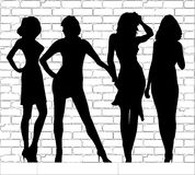 Hooker Silhouettes Royalty Free Stock Photo