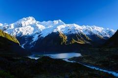Hooker-Tal-Bahn, Berg-Koch, Neuseeland stockfoto