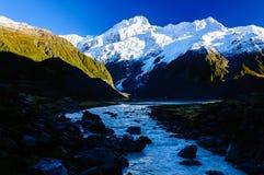 Hooker-Tal-Bahn, Berg-Koch, Neuseeland lizenzfreie stockfotos