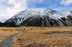 Hooker Track in Aoraki/Mount Cook National Park, New Zealand Stock Images