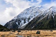 Hooker Track in Aoraki/Mount Cook National Park, New Zealand Stock Photos