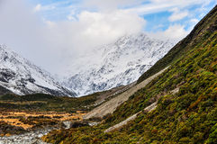Hooker Track in Aoraki/Mount Cook National Park, New Zealand Stock Photo
