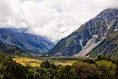 Hooker Valley - Aoraki. Hooker Valley in the Mount Cook Range - Aoraki, South Island, New Zealand Stock Photos