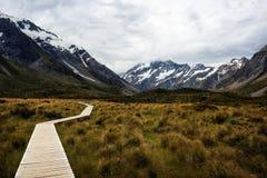 Hooker Valley Hike New Zealand. Taken in 2015 taken in HDR Royalty Free Stock Photos