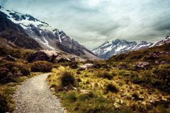 Hooker Valley Hike New Zealand. Taken in 2015 taken in HDR Royalty Free Stock Photo
