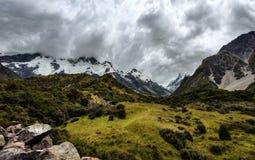 Hooker Valley Hike New Zealand. Taken in 2015 taken in HDR Stock Images