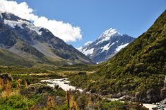 Hooker Valley. New Zealand, South island Stock Photography