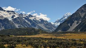 Hooker Valley. New Zealand, South island Stock Image