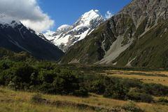 Hooker Valley in Mount Cook National Park Stock Photography