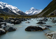 Hooker valley Stock Photo