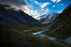 Mount Cook in Valley stock image