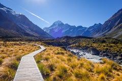 Hooker Valley Track, Aoraki Mount Cook, New Zealand. Hooker Valley Track in Aoraki Mount Cook, New Zealand Stock Photography